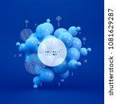 molecule. 3d concept... | Shutterstock .eps vector #1081629287