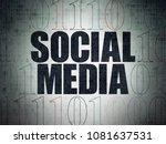 social media concept  painted... | Shutterstock . vector #1081637531