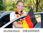 young blond pretty cheerful... | Shutterstock . vector #1081644005