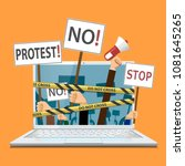 censorship of the internet and... | Shutterstock .eps vector #1081645265