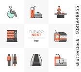 modern flat icons set of... | Shutterstock .eps vector #1081648955