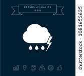 cloud thunderstorm lightning... | Shutterstock .eps vector #1081653635