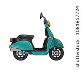 scooter motorcycle isolated... | Shutterstock .eps vector #1081657724