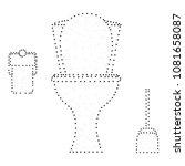 white ceramics toilet bowl ... | Shutterstock .eps vector #1081658087