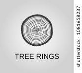 tree rings icon. tree rings...   Shutterstock .eps vector #1081658237