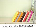 books on the shelf | Shutterstock . vector #1081666247