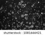 black bokeh  abstract black... | Shutterstock . vector #1081666421