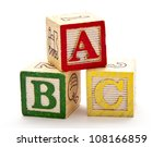 abc blocks | Shutterstock . vector #108166859
