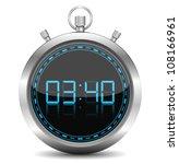 stopwatch  vector eps10... | Shutterstock .eps vector #108166961