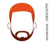 man faceless cartoon on red...   Shutterstock .eps vector #1081676795