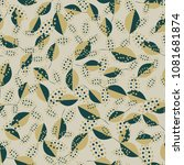 spring seamless pattern with... | Shutterstock .eps vector #1081681874