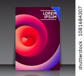minimal abstract liquid curve... | Shutterstock .eps vector #1081684307
