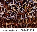 textures of steel t bar  | Shutterstock . vector #1081692194