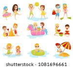 flat vector set of little... | Shutterstock .eps vector #1081696661