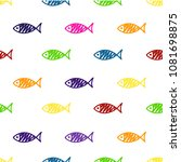 seamless pattern with fish.... | Shutterstock .eps vector #1081698875
