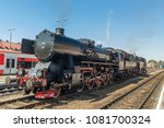 vintage steam train locomotive... | Shutterstock . vector #1081700324