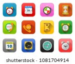 clock time and event icons ... | Shutterstock .eps vector #1081704914