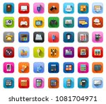 vector electronic icons set  ... | Shutterstock .eps vector #1081704971