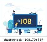 job search  recruitment  hiring ... | Shutterstock .eps vector #1081706969