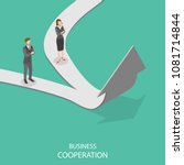 business cooperation flat... | Shutterstock .eps vector #1081714844