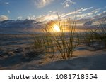 sunrise on the gold coast. | Shutterstock . vector #1081718354