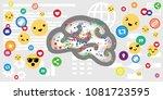 vector illustration of brain... | Shutterstock .eps vector #1081723595