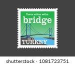 yavuz sultan selim bridge... | Shutterstock .eps vector #1081723751
