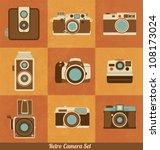 retro camera set | Shutterstock .eps vector #108173024