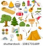 camping children summer camp... | Shutterstock .eps vector #1081731689