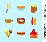 icons about food with mustard ... | Shutterstock .eps vector #1081739861