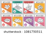 vector banners or card nuts and ... | Shutterstock .eps vector #1081750511