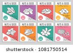 vector banners or card nuts and ... | Shutterstock .eps vector #1081750514