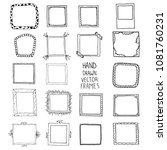 hand drawn frames set  vector | Shutterstock .eps vector #1081760231