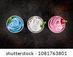 healthy diet summer dessert ... | Shutterstock . vector #1081763801