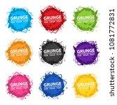 set colorful grunge design... | Shutterstock .eps vector #1081772831