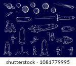 set of vector illustrations of... | Shutterstock .eps vector #1081779995