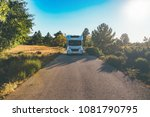 front view of a motor home on a ... | Shutterstock . vector #1081790795