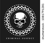 skull drawing for t shirt...   Shutterstock .eps vector #1081791281
