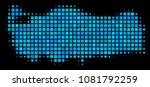 halftone pixel turkey map.... | Shutterstock .eps vector #1081792259