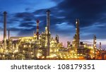oil and gas refinery at... | Shutterstock . vector #108179351
