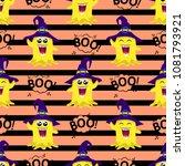 abstract seamless halloween... | Shutterstock .eps vector #1081793921