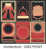 vector set of obey poster... | Shutterstock .eps vector #1081795307