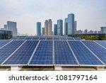 solar and modern city skyline  | Shutterstock . vector #1081797164