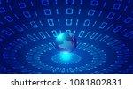 three dimensional digital earth ... | Shutterstock .eps vector #1081802831