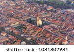 panorama with the city of...   Shutterstock . vector #1081802981