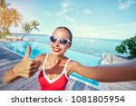 vacation and technology.... | Shutterstock . vector #1081805954