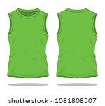 men's green sleeveless shirts   ... | Shutterstock .eps vector #1081808507