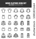 it's a set of icons about men's ... | Shutterstock .eps vector #1081831664