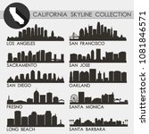california usa skyline... | Shutterstock .eps vector #1081846571
