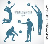 volleyball silhouettes   vector ...   Shutterstock .eps vector #108184694